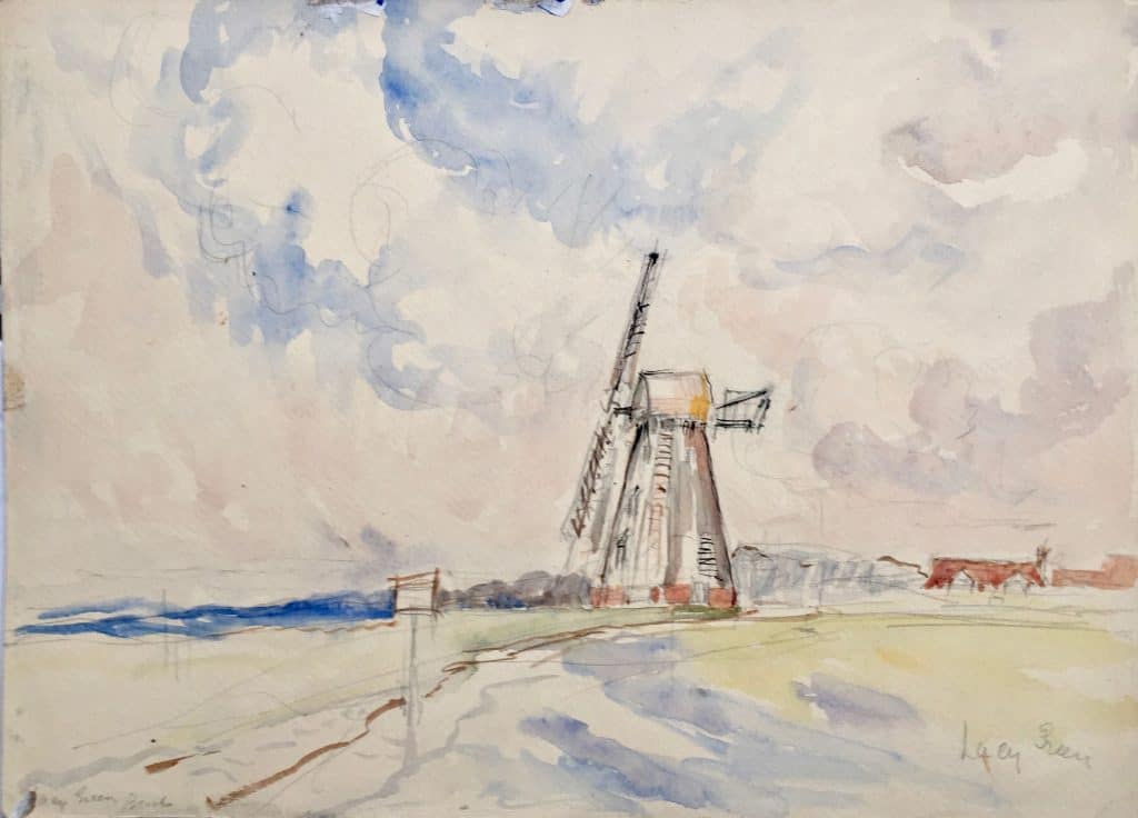 Painting of Lacey Green windmill