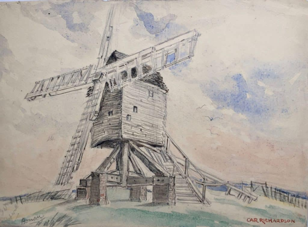 Painting of Bourn Windmill