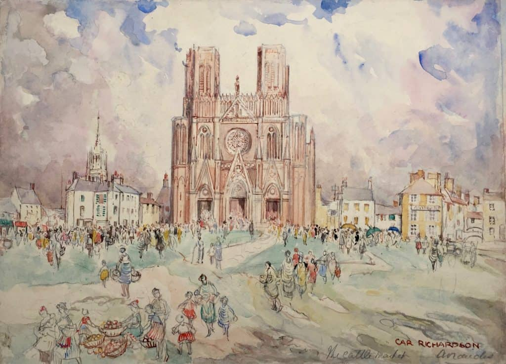 Painting of a cathedral