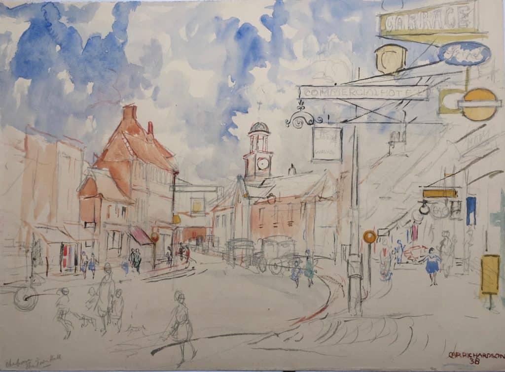 Painting of Chesham Town Hall 1
