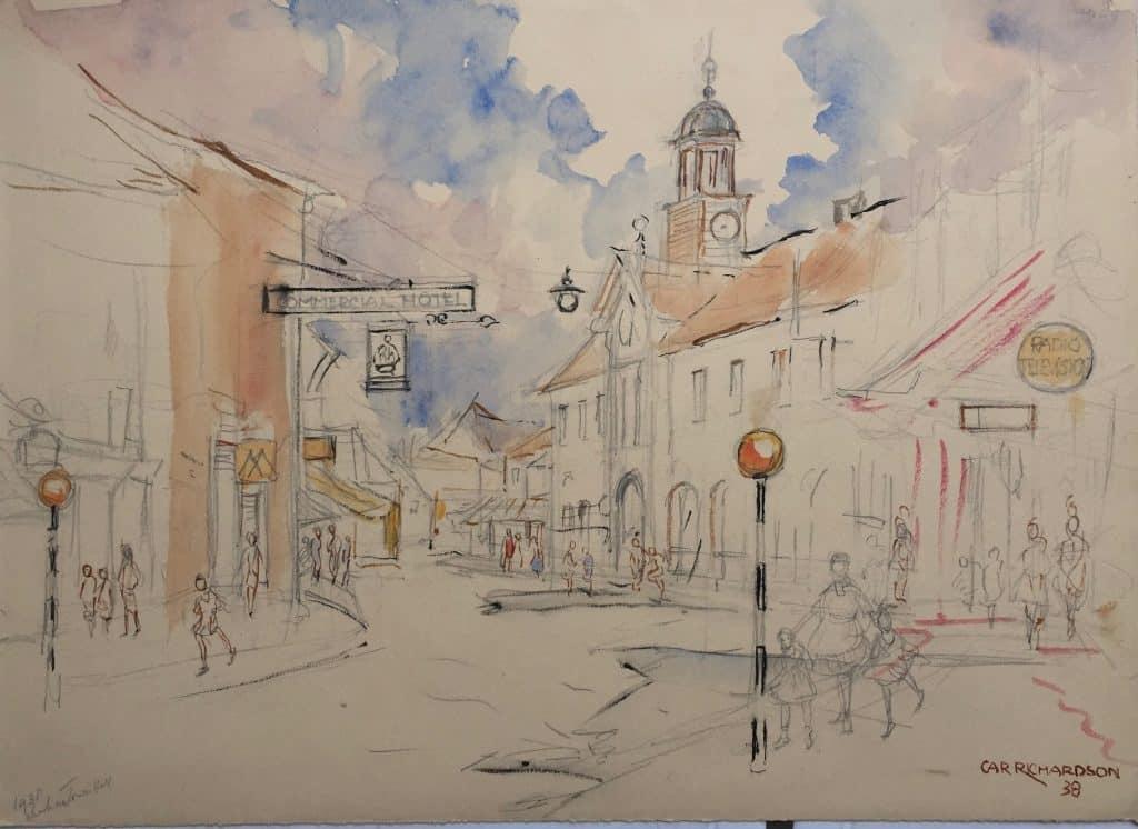 Painting of Chesham Town Hall 2