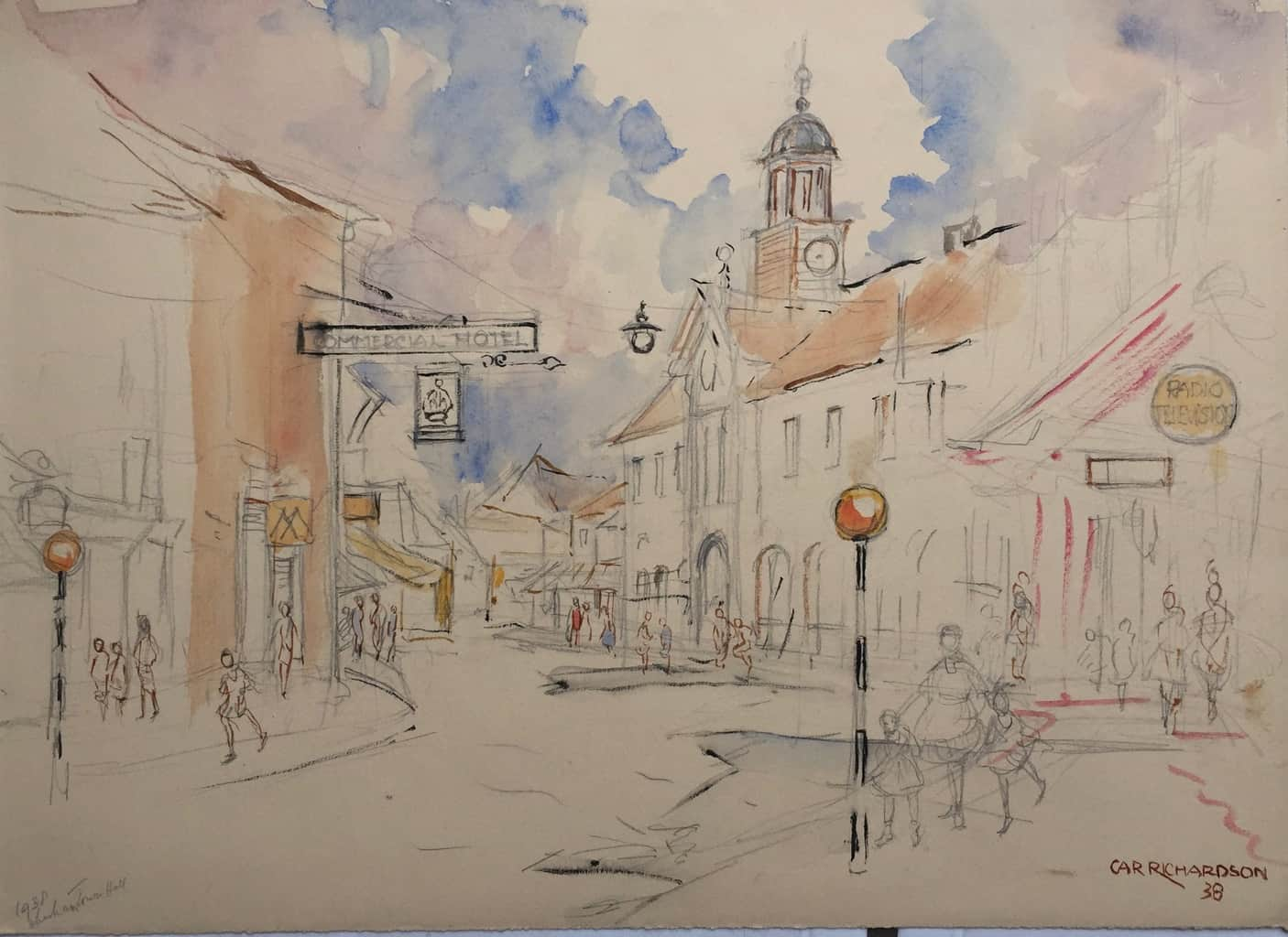 Painting of Chesham Town Hall 2
