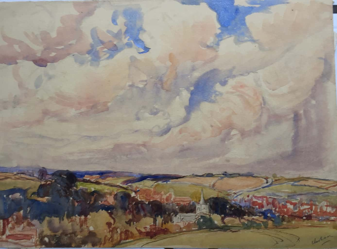 Painting of Chesham view 2