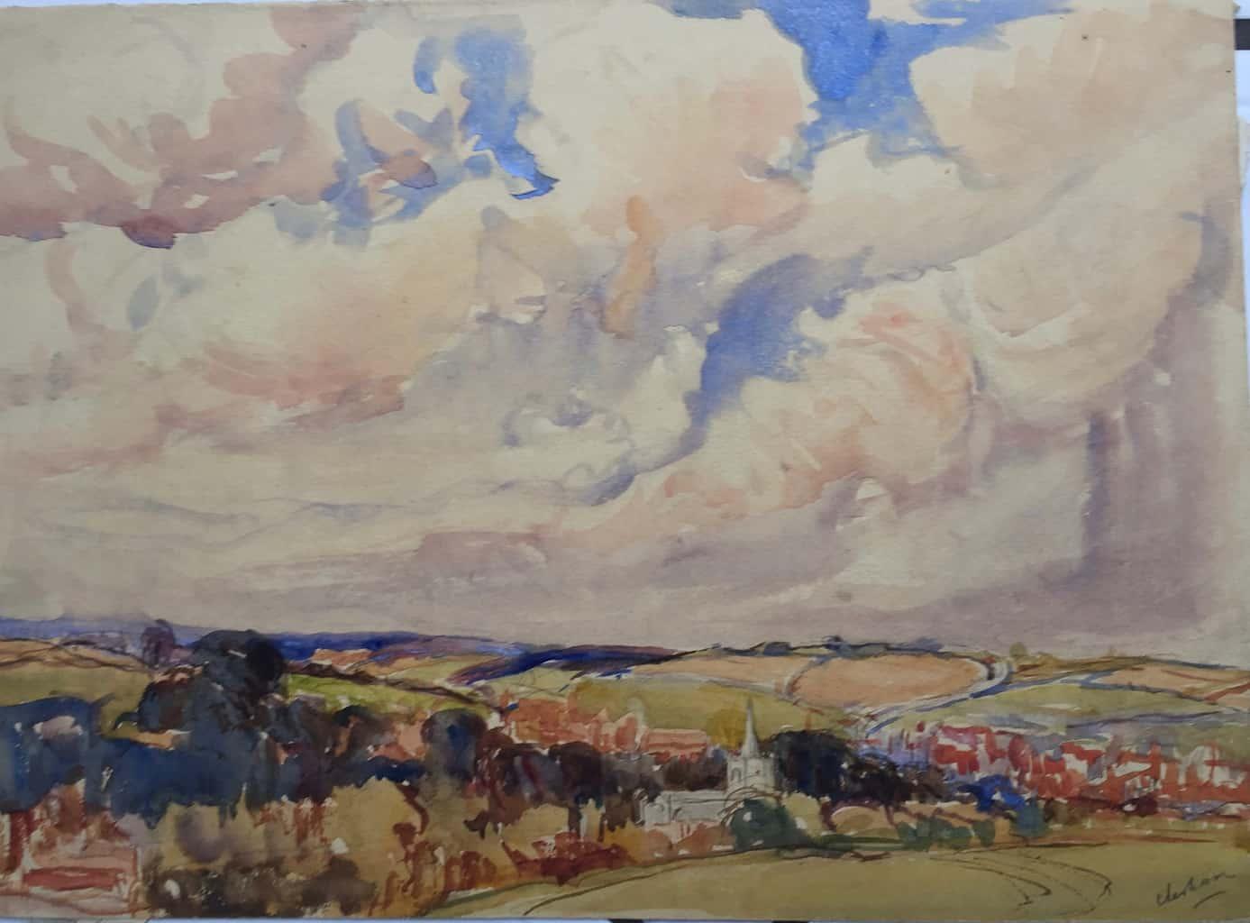 Painting of Chesham view 2