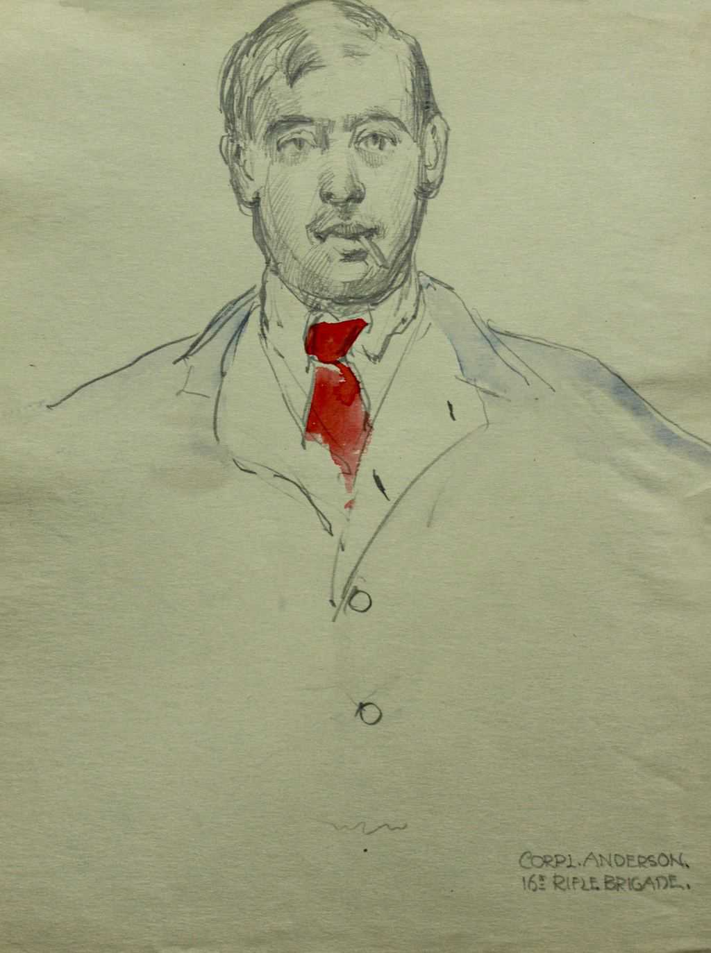 Sketch of Corporal Anderson 16th Rifle Brigade