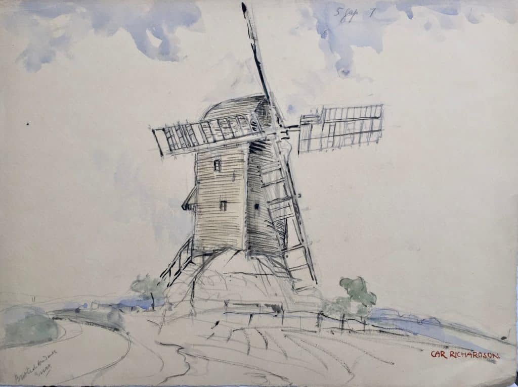 Painting of Broxted Windmill