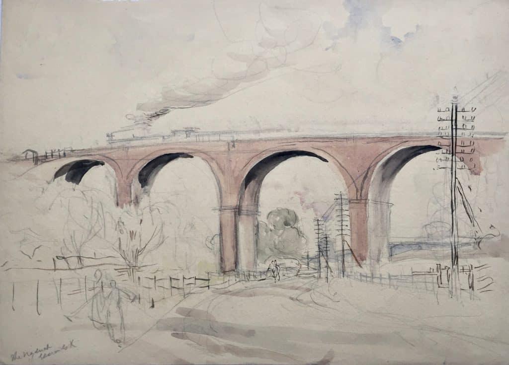 Painting of Gerrards Cross viaduct