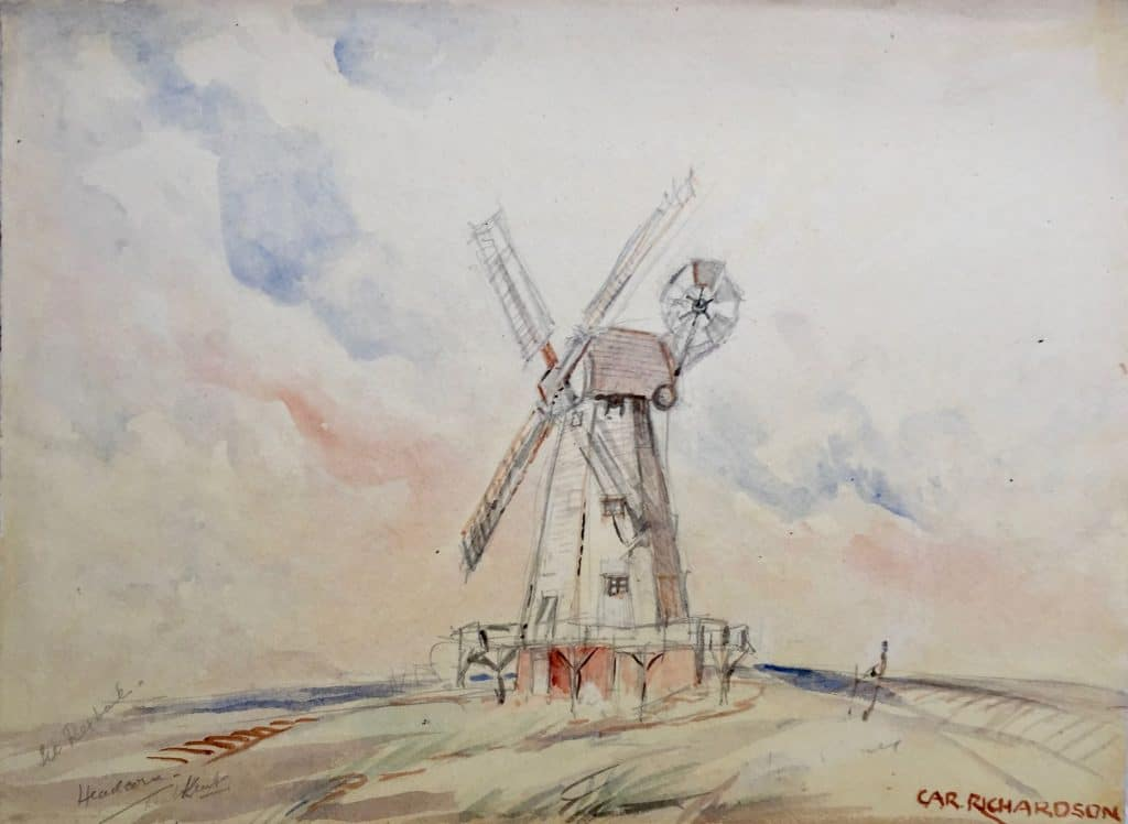 Painting of Headcorn Mill