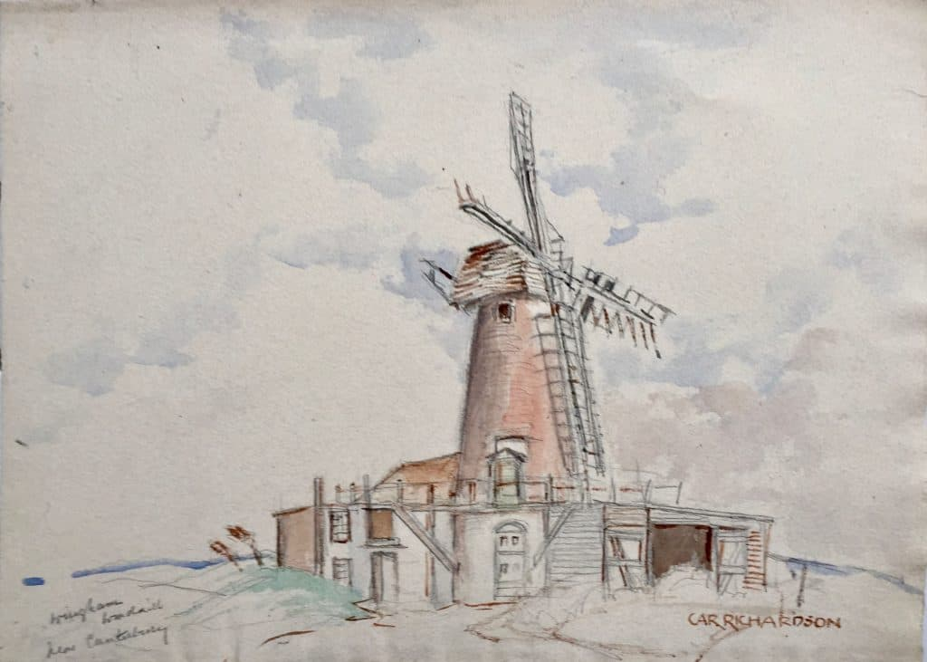 Painting of Wingham WindMill