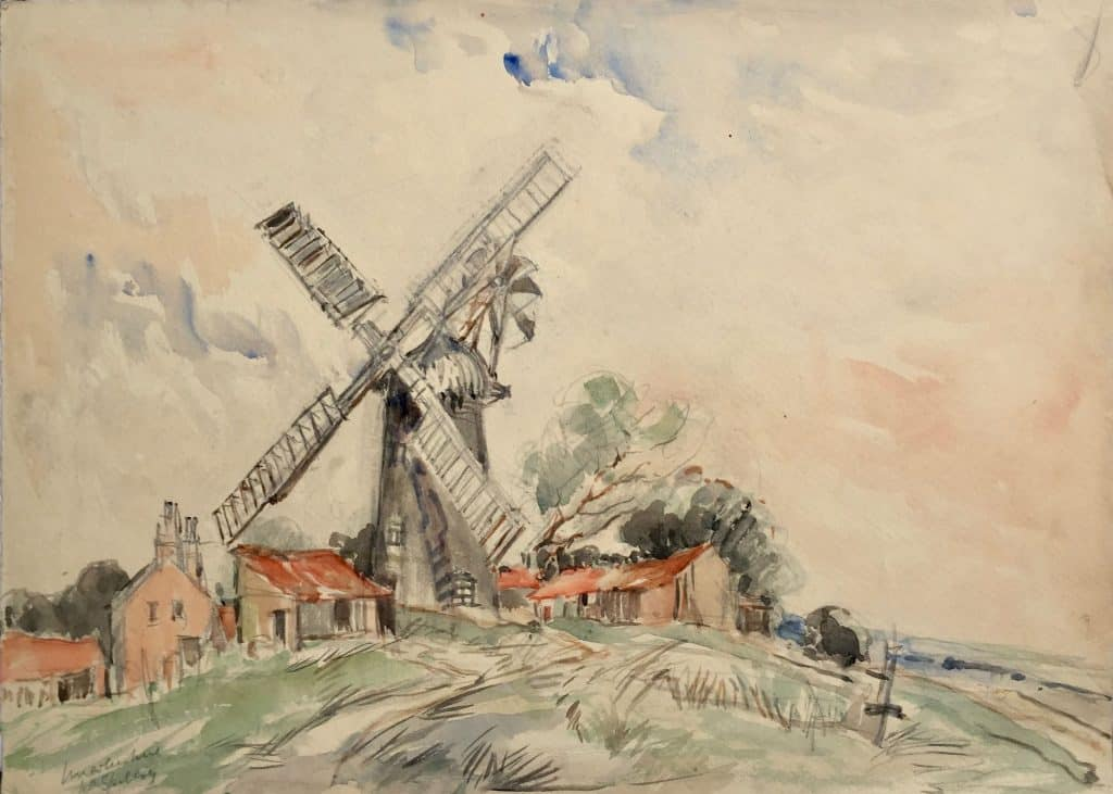 Painting of windmill near Spilsby