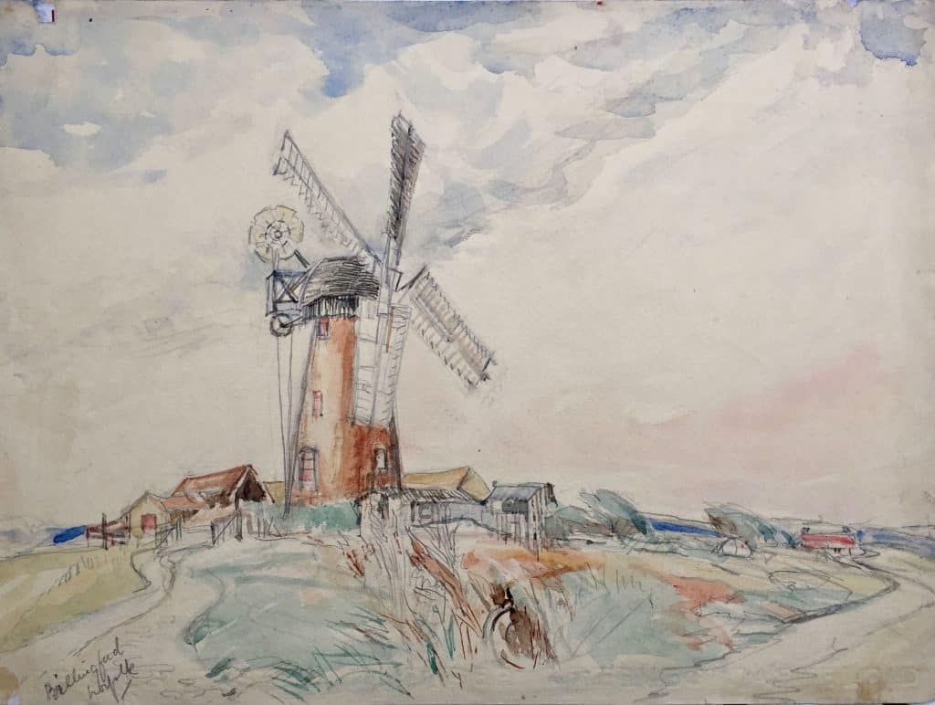 Painting of Billingford Windmill