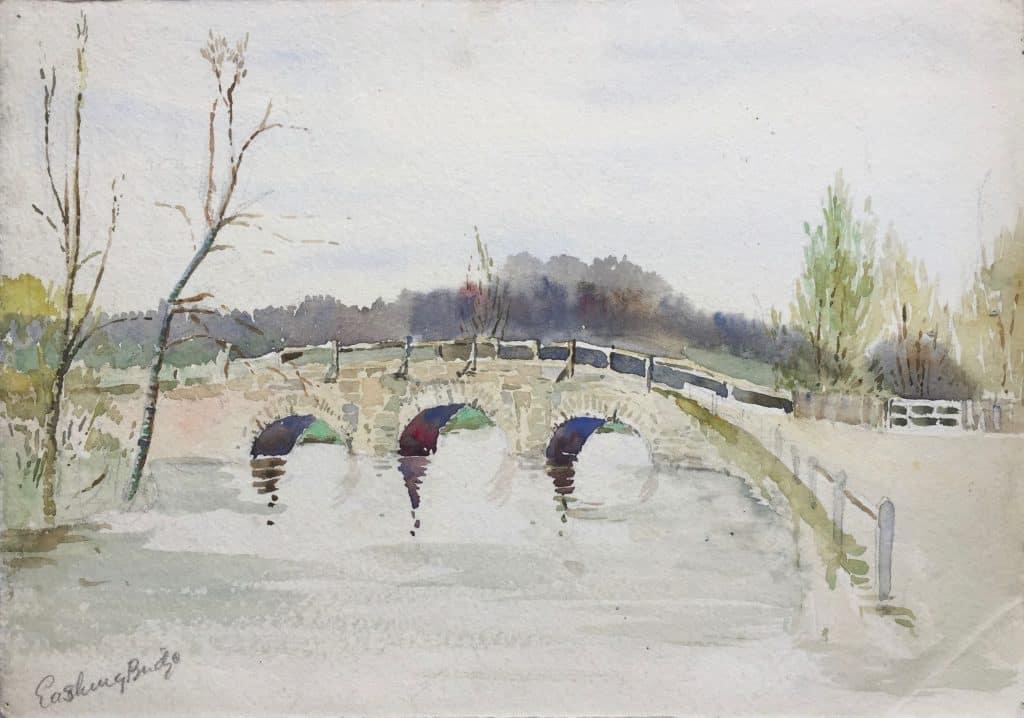 Painting of Eashing Bridge {Surrey]