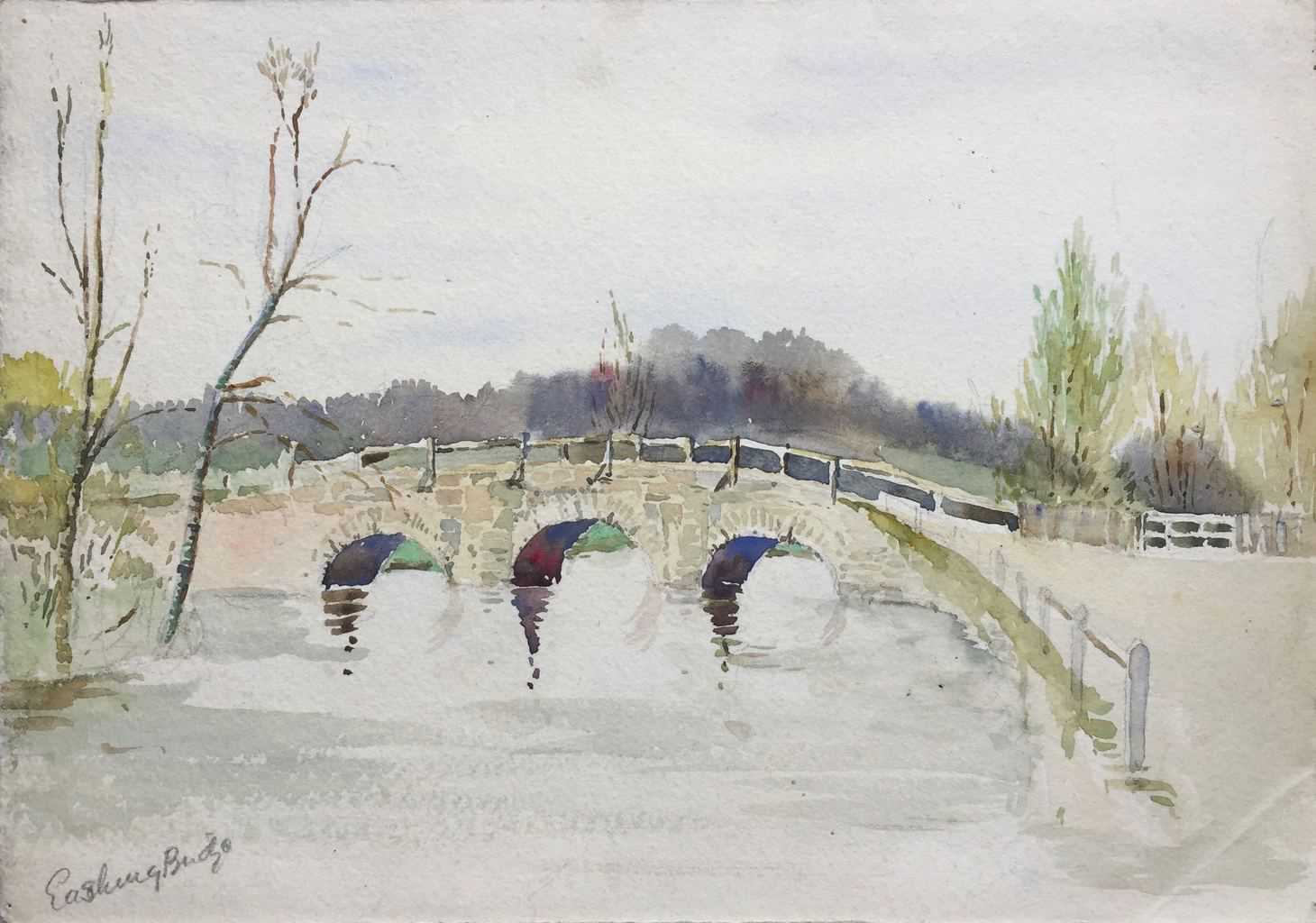 Painting of Eashing Bridge {Surrey]