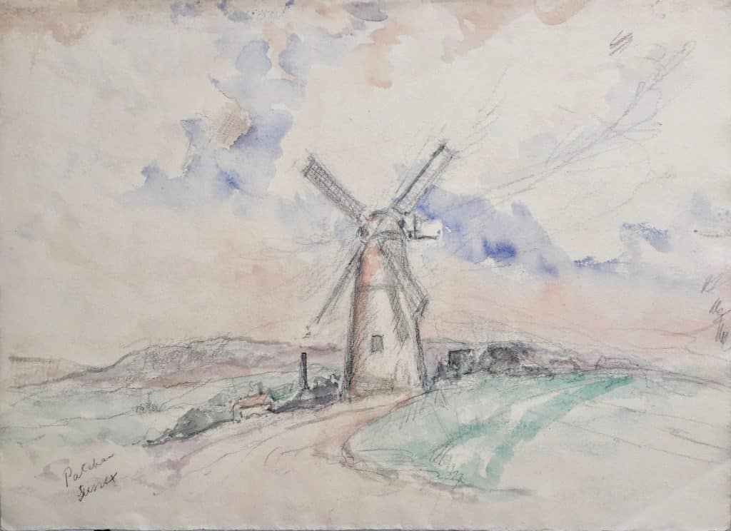 Painting of Patcham Mill