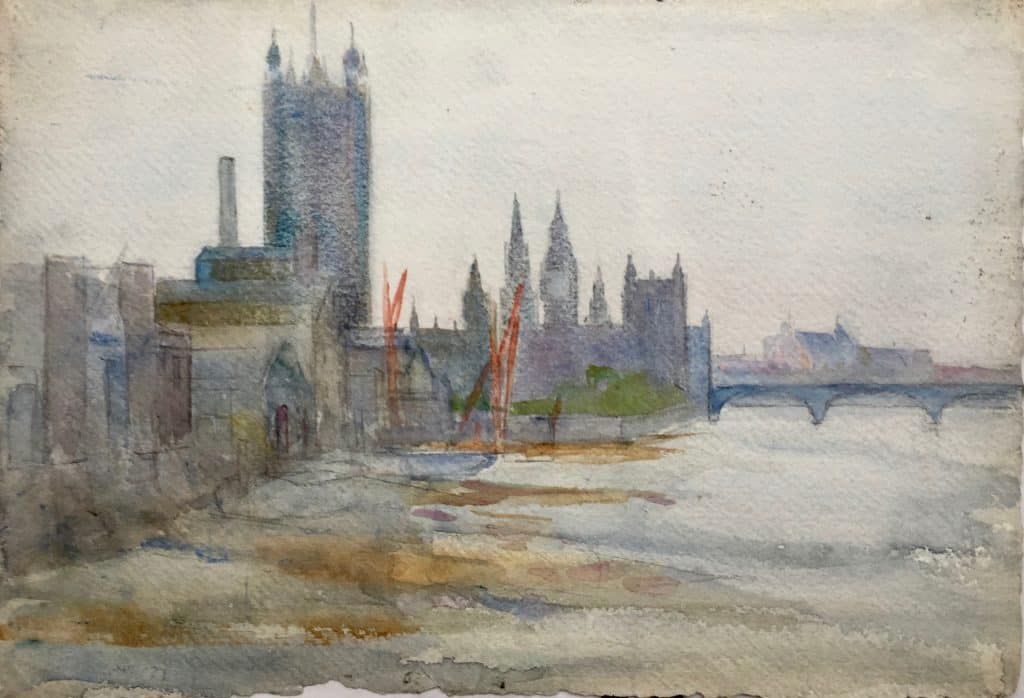 Painting of Palace of Westminster