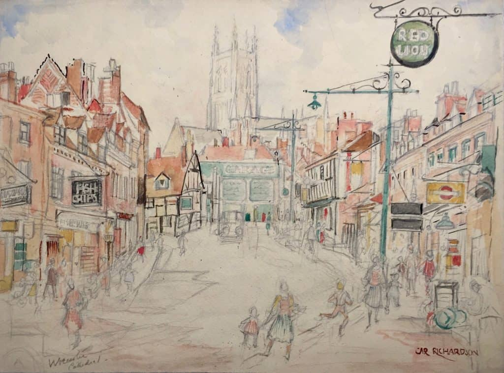Painting of Worcester Catherdral